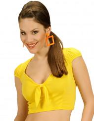 Sexy gele top met strik voor vrouwen