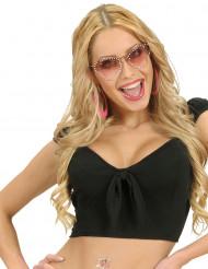 Sexy zwarte top met strik voor vrouwen