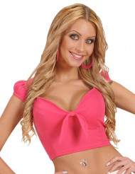 Sexy roze topje met strik voor vrouwen