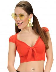 Sexy rode top met strik voor vrouwen
