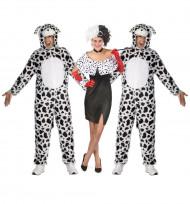 Cruella en dalmatiërs groepskostuum