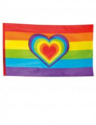 Regenboog vlag met hart