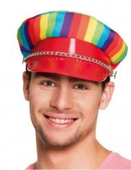 Veelkleurige pet voor volwassenen