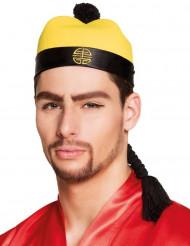 Chinese hoed met vlecht voor volwassenen