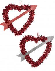 Rood hart met pijl