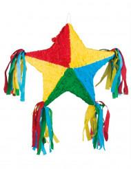 Veelkleurige ster piñata 51 x 56 cm