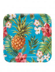 8 kartonnen Tropics borden 23 cm