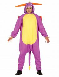 Paarse draak kostuum voor volwassenen