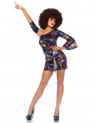 Sexy veelkleurige disco outfit voor vrouwen