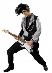 Zwart en zilverkleurig rock jack voor volwassenen