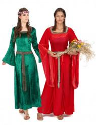 Middeleeuws koppelkostuum voor vrouwen