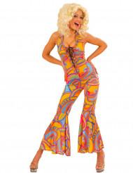 Veelkleurig hippiekostuum voor vrouwen