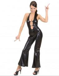 Zwart sexy disco kostuum voor vrouwen