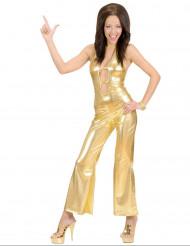 Sexy goudkleurige disco outfit voor vrouwen