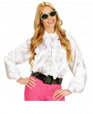 Witte blouse met franjes voor vrouwen