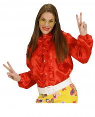 Rode blouse met franjes voor vrouwen