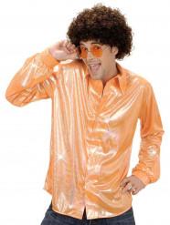 Glimmend oranje overhemd voor volwassenen