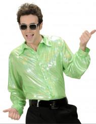 Glimmend groen disco overhemd voor heren