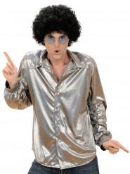 Zilverkleurige disco blouse voor mannen