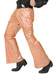 Oranje glitter disco broek voor mannen