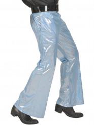 Blauwe glitter disco broek voor mannen