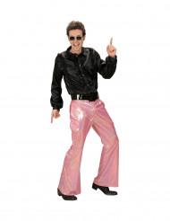 Groene disco glitter broek voor mannen