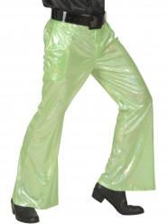 Groene glitter disco broek voor mannen