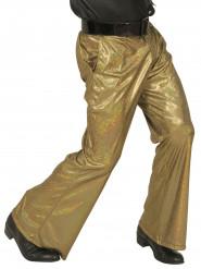 Goudkleurige glitter disco broek voor mannen