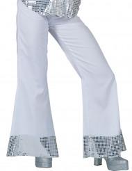 Witte disco broek met lovertjes voor vrouwen