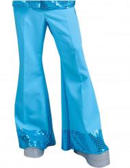 Blauwe disco broek voor mannen