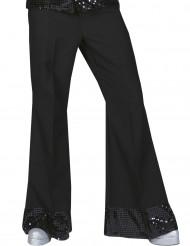 Zwarte disco broek met glitters voor heren