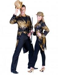 Zwarte en goudkleurige slipjas voor volwassenen