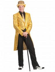 Goudkleurige slipjas met lovertjes voor mannen