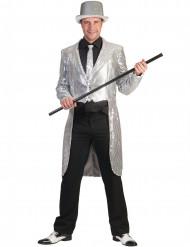 Zilverkleurige slipjas met lovertjes voor heren