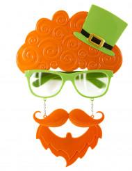 Bril met haren en baard St Patrick's Day
