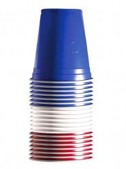 Rood, wit, blauwe plastic bekers