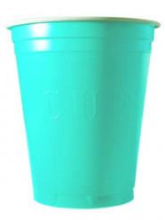 20 turquoise Original Cup bekers 53 cl