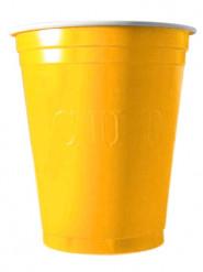 20 gele plastic bekers