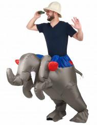 Opblaasbaar olifant kostuum voor volwassenen