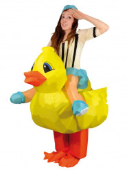 Opblaasbare eend kostuum voor volwassenen
