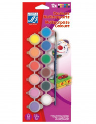 12 kleuren verf set