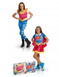 Supergirl™ en Wonder Woman™ kostuum set voor meisjes