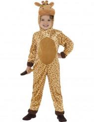 Beige en gele giraffe outfit voor kinderen