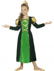Groen middeleeuwse koningin kostuum voor meisjes