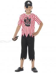 Gestreept piraten kostuum voor jongens