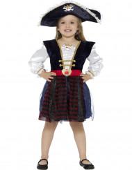 Glimmend piraten kostuum voor meisjes