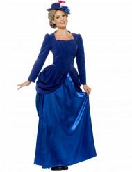 Blauw Victoriaans prinsessenkostuum voor vrouwen