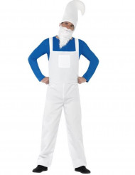 Blauw en wit kabouter kostuum voor mannen