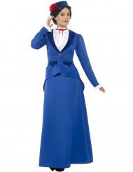 Victoriaanse babysitter kostuum voor vrouwen