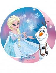 Frozen™ taartversiering Elsa en Olaf